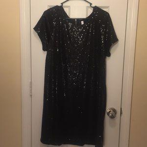 Black sequenced dress